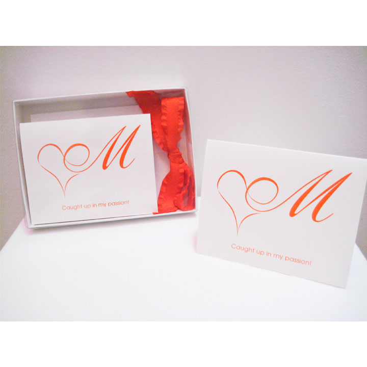 Caught up in my passion! (Set of 5 note cards - Sunset Orange)