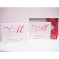 Every song that has ever been in my heart has been about you. (Set of 5 note cards – Passionately Pink)