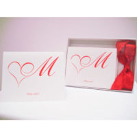 Miss Me? (Set of 5 note cards - Romance Red)