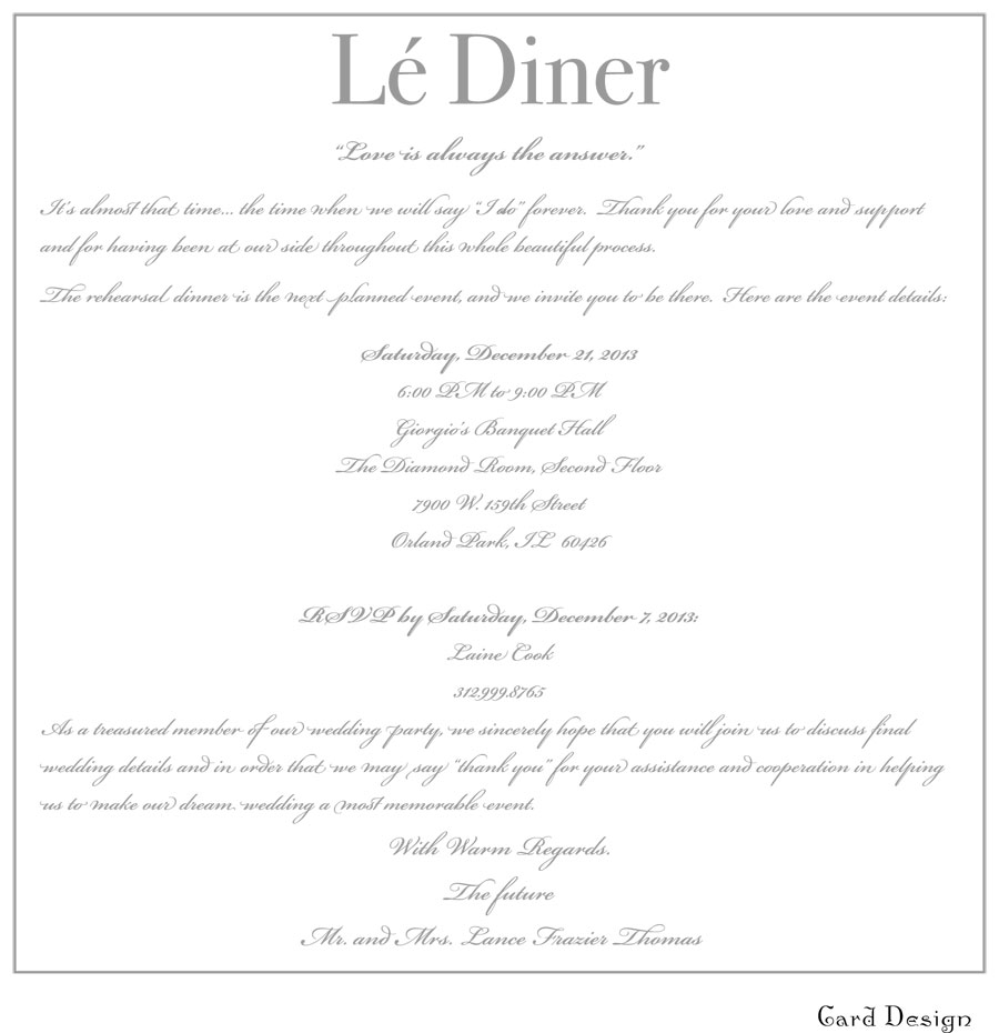 LES VOEUX Wedding Invitations – Marie\'s Musings