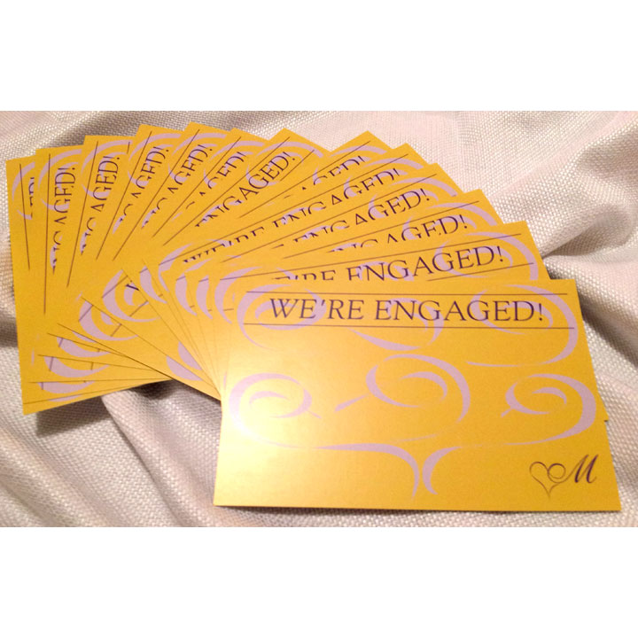 Engagement Announcement Cards