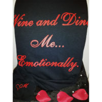 Wine and Dine Me... Emotionally, red on black