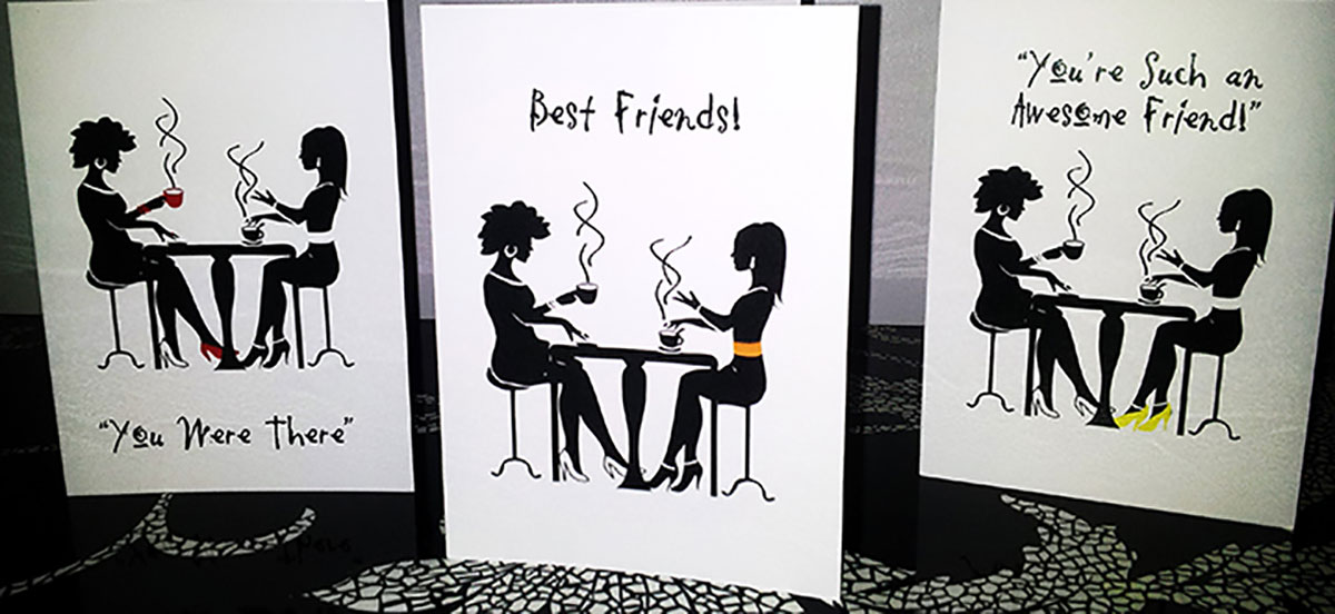 Girlfriends Greeting Card Set of 3 Cards